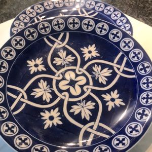 HAND PAINTED Z GALLERIE PLATES. dishwasher safe